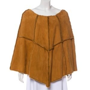 Ugg suede poncho with pockets